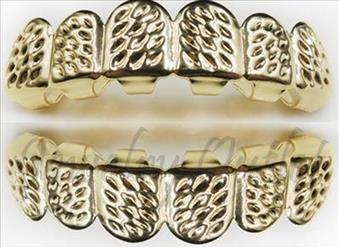 Hip Hop Grill Gold Diamond Cut