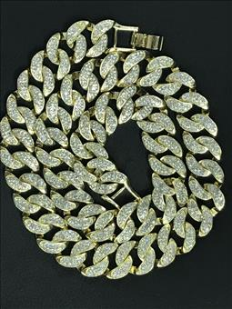 Hip Hop micro pave CZ lab created diamond Miami Cuban link chain