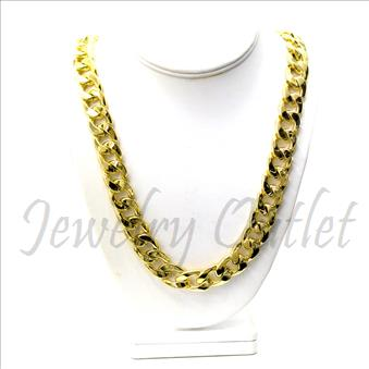 Hip Hop Fashion Stylish Cuban Chain with The Heavy, Durable, Solid Construction.30 inch Chain
