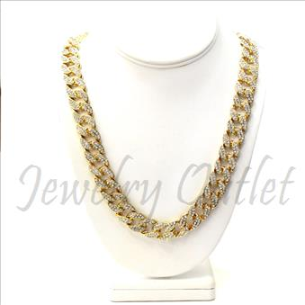 Hip Hop Fashion Cuban Chain With Full Stone  30 Inch