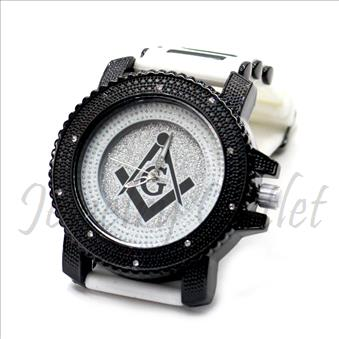 Hip Hop Fashion bling eyes Watch With White Jelly Band Water Resistant and Stainless Steel Back Cover