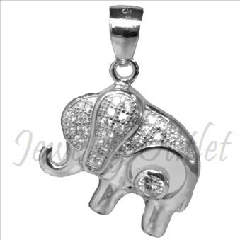 Elephant Sterling Silver 925 Ladies Pendant