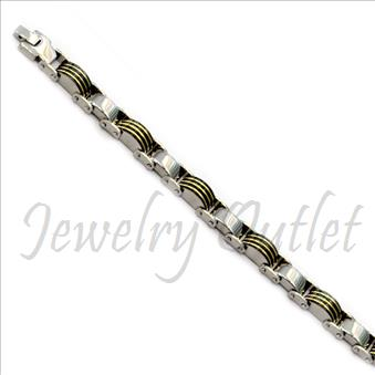 Stainless Steel Mens Bracelets In Silver Plating