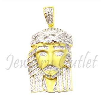 Sterling Silver 925 Jesus Face