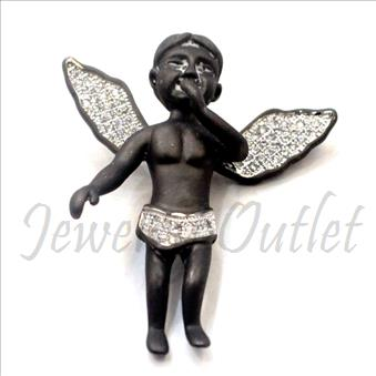 Sterling Silver 925 Angel Pendant