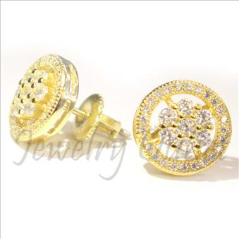 Round Flower Earring